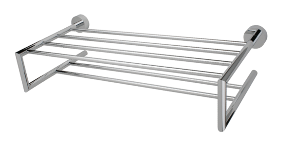 rubi-rca06ccc viso double bathroom shelf. chrome | cornerstone
