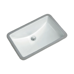Vils Rectangular undermount lavatory sink with overflow
