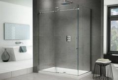 """Fleurco K2 Frameless 48"""" In-Line Shower Door with Right Side Return K2P57"""