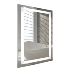 """Bathroom Mirror - WarmlyYours Audrey 24""""x36"""" Backlit LED"""
