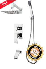 "Rubi ""Fall"" Shower System With Hand And Rain Shower"