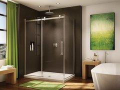 Corner Shower - Fleurco Novara - Door closes against return