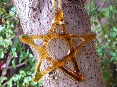 Amber glass Christmas star