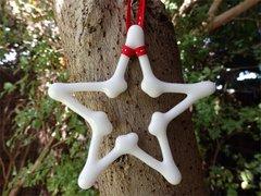 White glass Christmas star