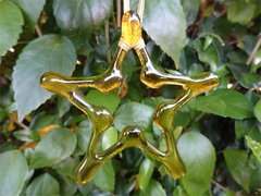 Amber glass Christmas star