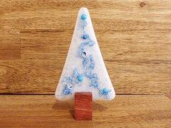 Christmas tree No. 61 (handmade glass/Jarrah)