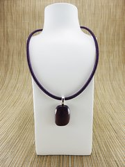 Purple glass pendant