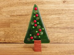 Christmas tree No. 59 (handmade glass/Jarrah)