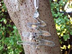 Clear glass Christmas tree