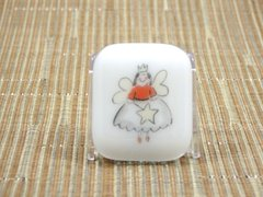 Fairy godmother white glass fridge magnet