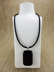 Black rectangular glass pendant