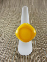 Yellow glass ring with centre inset