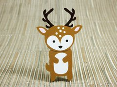 Deer painted wood fridge magnet