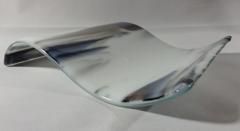 Smokey glass rectangular glass wave
