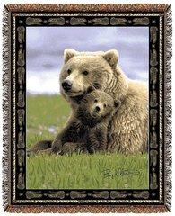 "Tapestry - ""Bears - Boyd Norton Grizzlies"" - Afghan, 53x67"