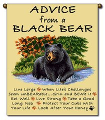 """Tapestry - """"Bears - Advice From A Bear"""" - Small Banner, 13x18"""