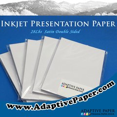 Premium Inkjet Presentation Paper Double Sided Satin 28lbs