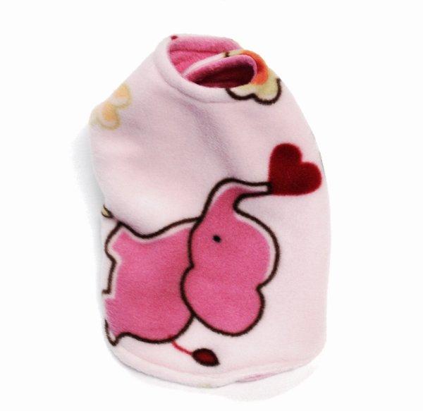 Pink Elephant Reversible Pet Coat - Extra Small