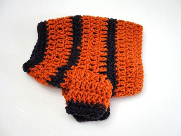 SMALL   Orange and Purple Shrug Style Sweater