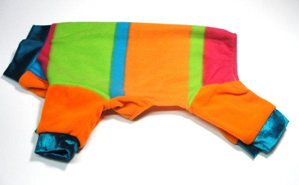 Melon Stripes Fleece Jammies-Roomy Assorted Sizes