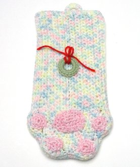 * Pretty Pastels with Pink Paw Print Stocking