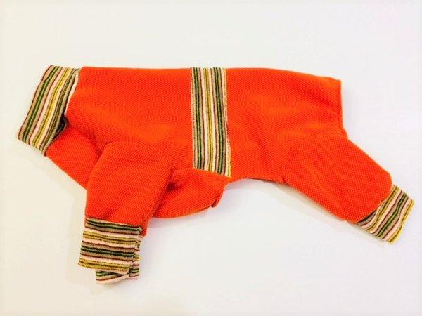 Bright Orange with Terry Trim Sweatshirt Jammies - Roomy Assorted Sizes