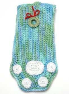 * Green and Blue Pet Stocking with Wreath