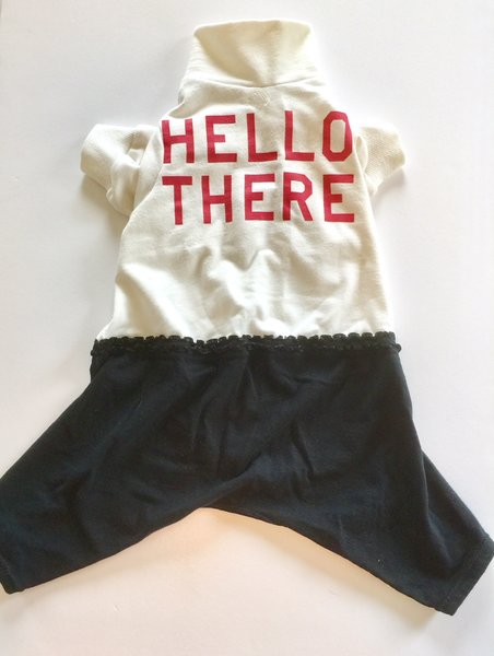 Hello There Pet Tee Jammie - Standard Large