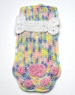 * Pretty Pastels Paw Print with Dog Bone Stocking