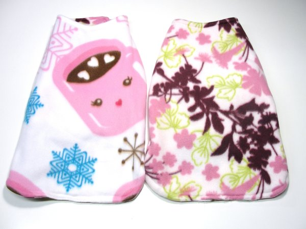 Cocoa and Floral Reversible Pet Coat - Medium/Large