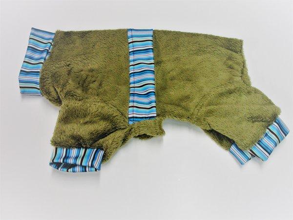 Blue Stripes Fuzzy Fleece Pet Jammies - Roomy Assorted Sizes