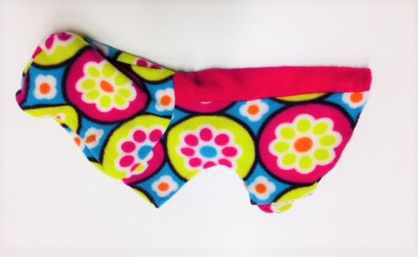 Neon Flowers Hooded Pet Coat - Extra Small
