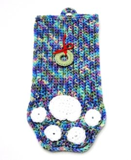 * Shades of Purple with White Paw Print Stocking