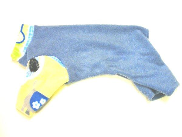 Dusky Blue Fleece Pet Jammies - Standard Small