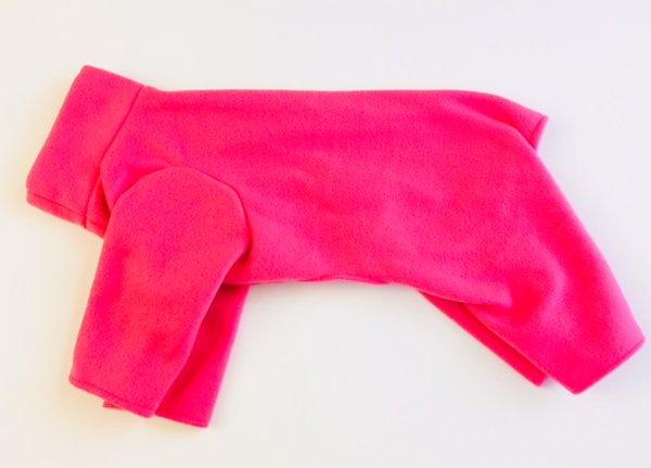 Hot Pink Pet Fleece Jammie - Standard Medium