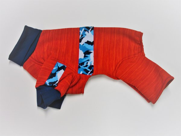 Red with Blue Camo Sweatshirt Jammies - Roomy Assorted Sizes