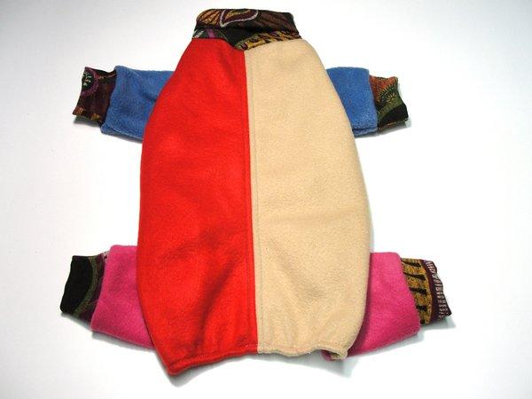 Paisley Trimmed Colorblock Fleece Jammies - Roomy Small