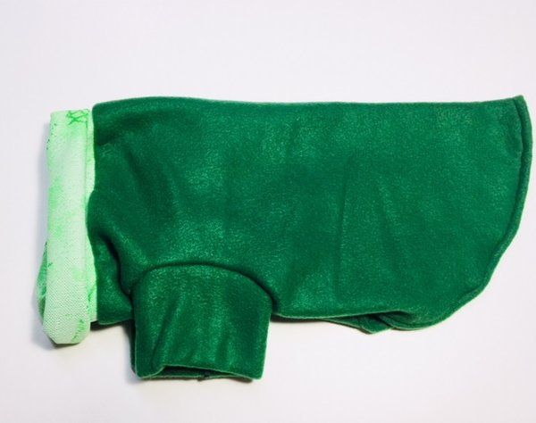 Green Fleece Pet Shirt - Standard Medium