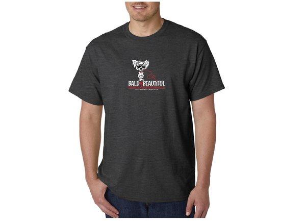 Bald is Beautiful Dark Heather Grey T-Shirts (Adult sizes)