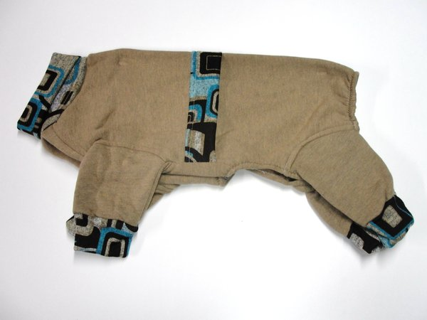 Brown Futuristic Trim Sweatshirt Jammies - Roomy Assorted Sizes