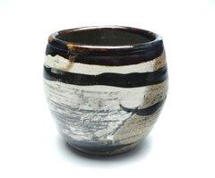 Tea BowlBrown Rim and Stripe