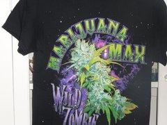 Marijuana Max Wild Zombie Solid black T-shirt