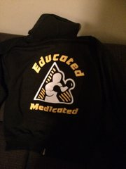 Educated and Medicated Zipper front Hoodie