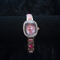 Womens Geneva Elllipse Dial Flower watch