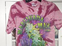 Marijuana Max tie dye Maroon T-shirt
