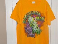 Marijuana Max Wild Zombie Solid Yellow T-shirt