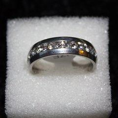 Ring - Mens 18k white Gold Plated Diamond Ring / Size: 11