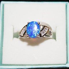 Ring - Womens Blue Fire Opal / Size: 7