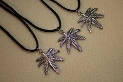 "20"" Marijuana Necklace with Suede Cord"