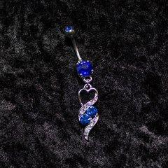 Belly Jewelry - Blue Heart